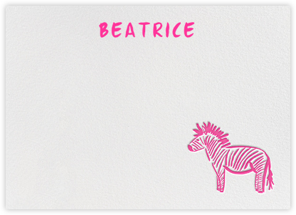Little Striper - Fuschia - Linda and Harriett - Baby and kids' stationery