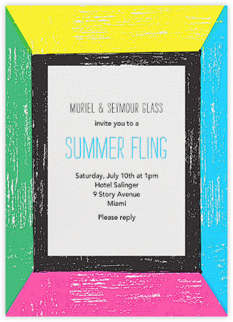 Bright Lights, Big Party - Neon - Mr. Boddington's Studio - Summer Party Invitations