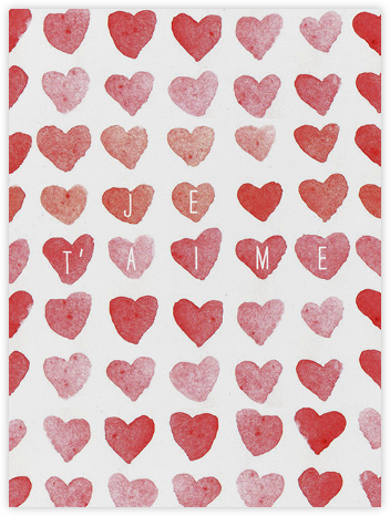Je T'aime - Linda and Harriett - Valentine's day cards