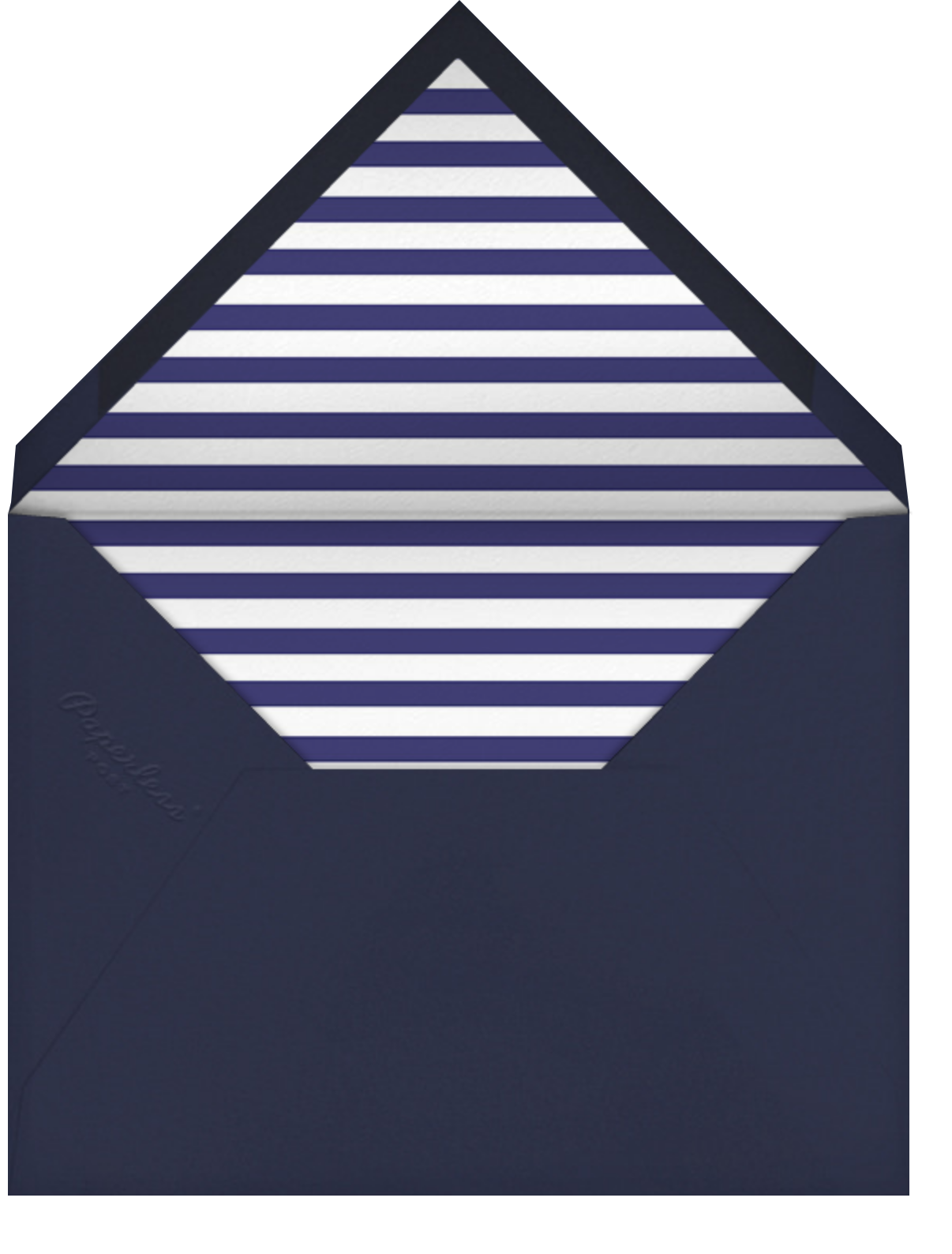 Out At Sea - Teal - Mr. Boddington's Studio - Anniversary cards - envelope back