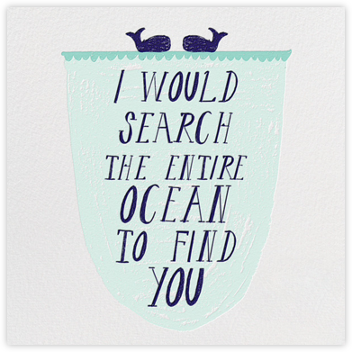 Out At Sea - Teal - Mr. Boddington's Studio - Anniversary Cards