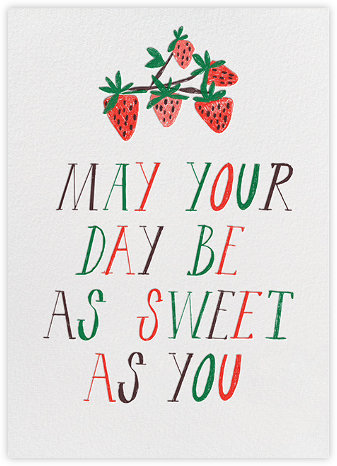 Sweet Seedless Strawberry Day - Mr. Boddington's Studio - Birthday Cards for Her