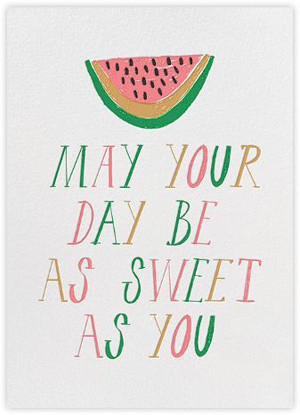 Sweet Seedless Watermelon Day - Mr. Boddington's Studio - Birthday Cards for Her