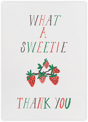What A Sweetie - Mr. Boddington's Studio - Online Thank You Cards