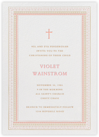 Our Baby's Big Day - Pink - Mr. Boddington's Studio - Baptism invitations