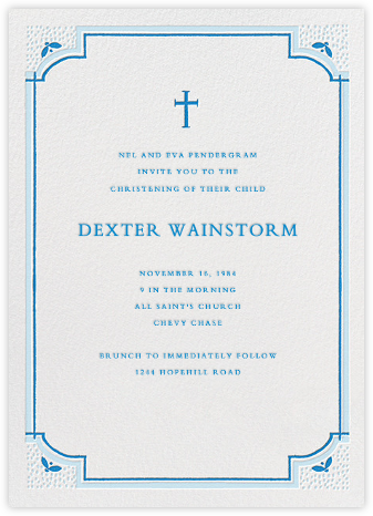Tapered Candle for Baby - Blue - Mr. Boddington's Studio - Christening Invitations