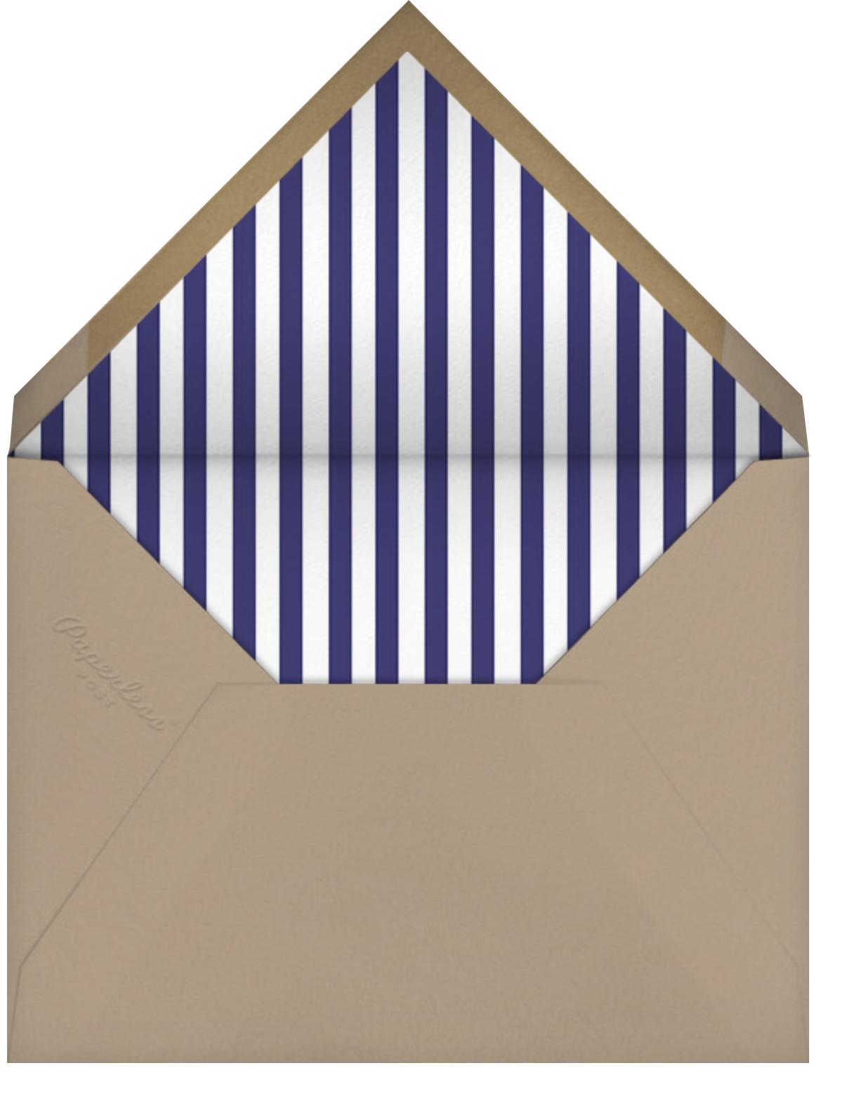 Over the River and Through the Woods - Blue - Mr. Boddington's Studio - Housewarming - envelope back