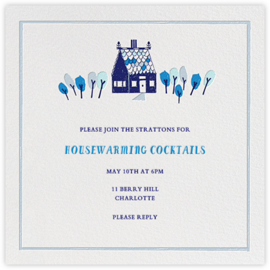 Over the River and Through the Woods - Blue - Mr. Boddington's Studio - Celebration invitations