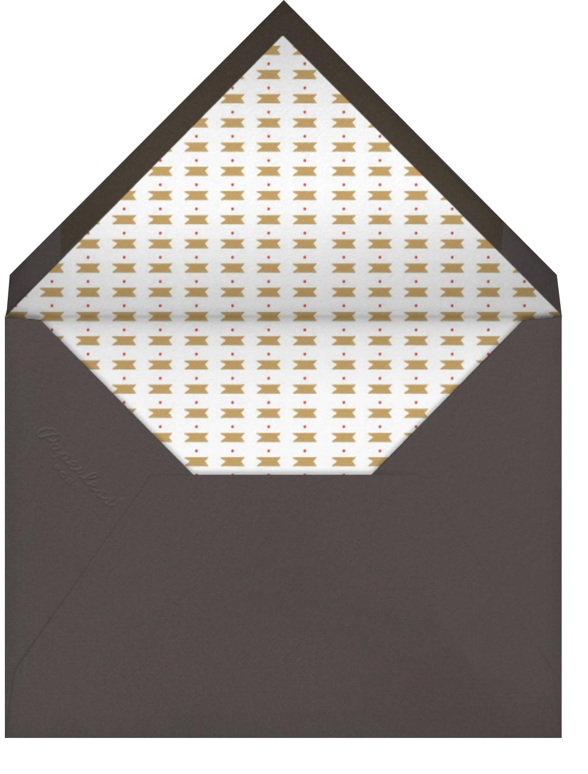 Meet Me at Midnight - Charcoal - Mr. Boddington's Studio - Engagement party - envelope back