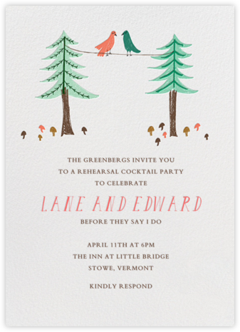 Love Birds On A Wire - Mr. Boddington's Studio - Wedding Weekend Invitations