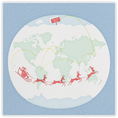 Santa's Map - Paperless Post - Christmas Cards