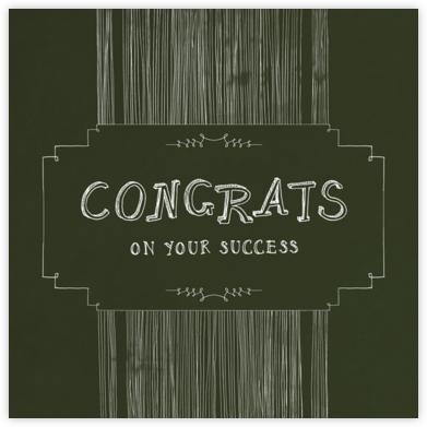 Chalkboard - Congrats - Paperless Post -