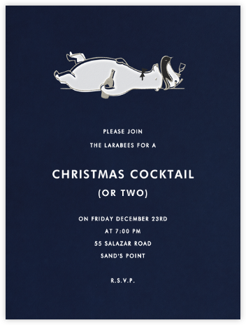 Liquored Up In Lapland - Navy - Paperless Post - Holiday invitations