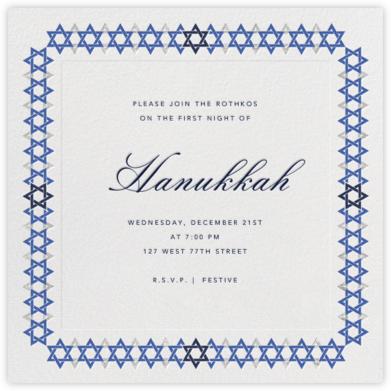 Star of David Border - Paperless Post - Hanukkah invitations