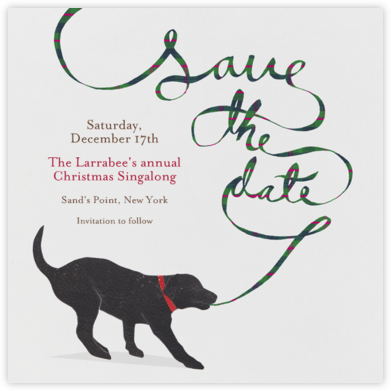 Black Lab - Paperless Post - Holiday Save the Dates
