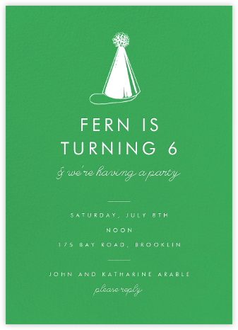 Emerald (Tall) - Paperless Post - Online Kids' Birthday Invitations