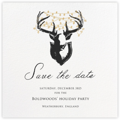 Antler Tangle - Paperless Post - Save the dates