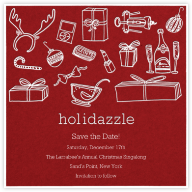 Holidazzle - Crimson - Paperless Post -