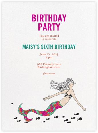 A Cupcake for the Mermaid - Fair - Mr. Boddington's Studio - Birthday invitations