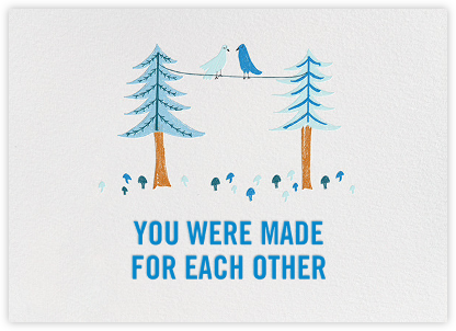 Birds Married Fifty Years - Blue - Mr. Boddington's Studio - Online Greeting Cards