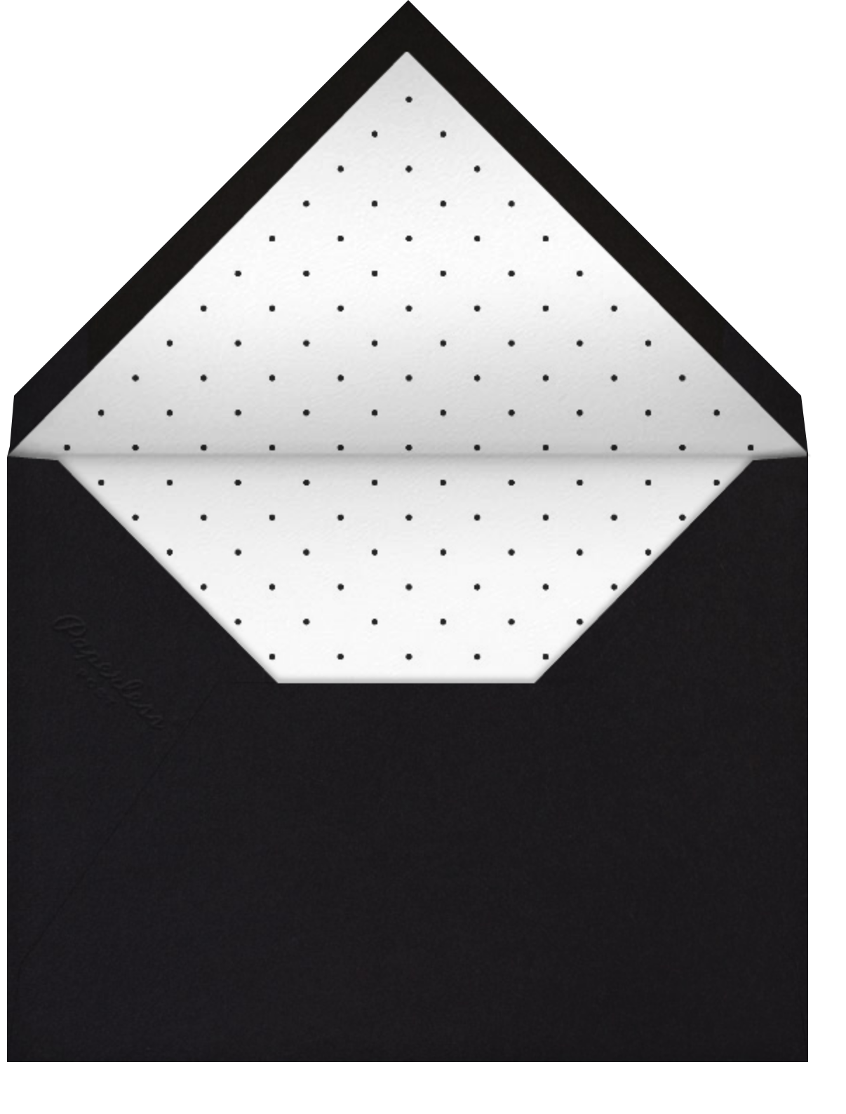 Shhhhhhh! - Black - Mr. Boddington's Studio - Adult birthday - envelope back