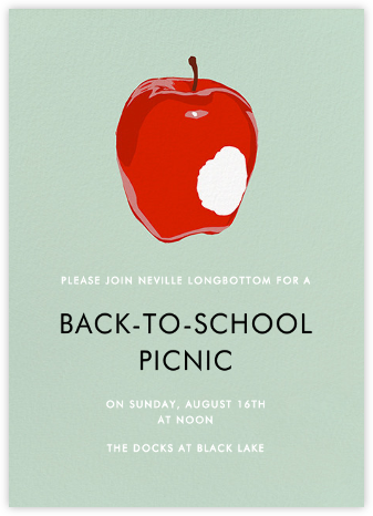 Apple Bite - Hannah Berman - Back-to-school invitations