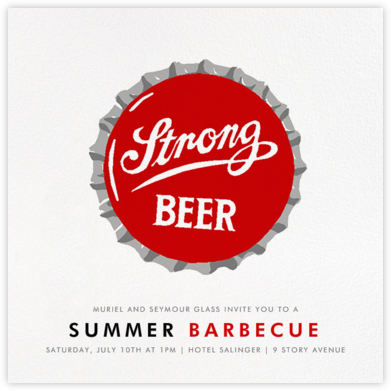 Strong Beer - Hannah Berman - Summer Party Invitations