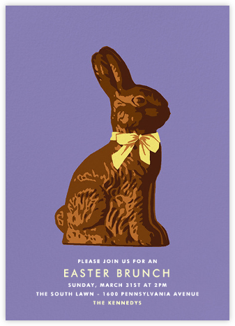 Chocolate Bunny - Hannah Berman - Easter invitations