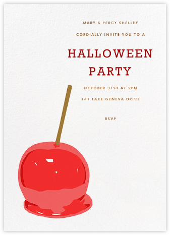 Candy Apple - Hannah Berman - Halloween invitations