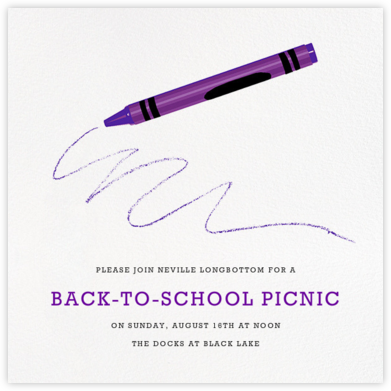 Crayon - Hannah Berman - Back-to-school invitations