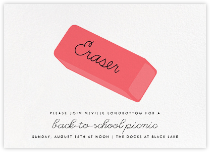 Eraser - Hannah Berman - Back-to-school invitations