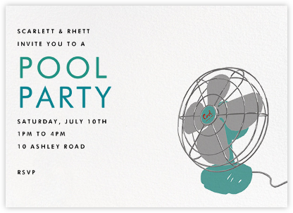 Stay Cool - Hannah Berman - Summer Party Invitations