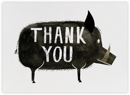 Grateful Boar (Chris Sasaki) - Red Cap Cards - Online Thank You Cards