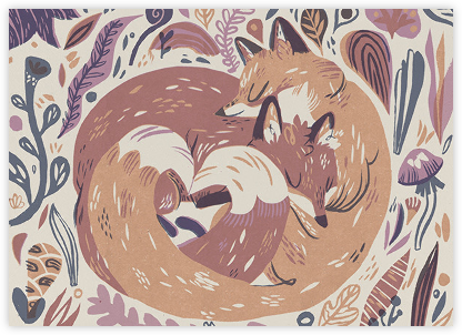 Fox Love (Meg Hunt) - Red Cap Cards - Love Cards