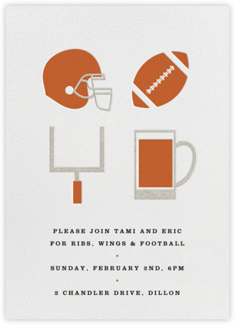 Football and Beer - Paperless Post - Sporting Event Invitations