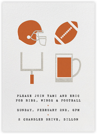 Football and Beer - Paperless Post - Get-together invitations