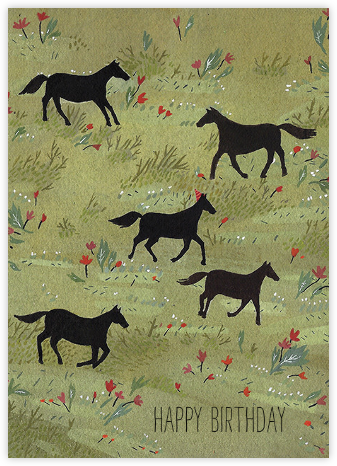 Black Stallion (Becca Stadtlander) - Red Cap Cards - Birthday Cards for Him