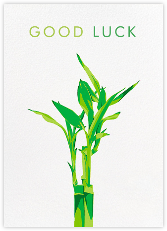 Lucky Bamboo - Hannah Berman - Good luck cards