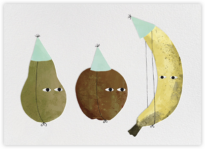 Fruit Party (Jon Klassen) - Red Cap Cards - Birthday cards
