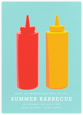 Ketchup and Mustard - Hannah Berman - Barbecue and picnic invitations