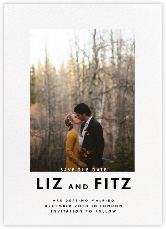 Vertical Overlap - Paperless Post - Modern save the dates