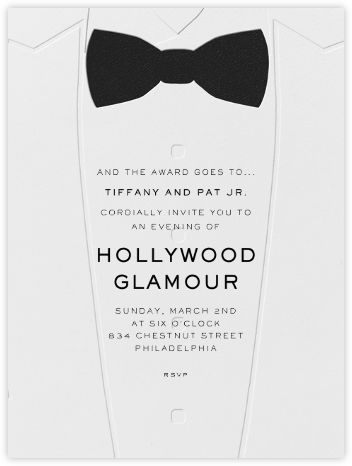 White Tuxedo - Paperless Post - Viewing Party Invitations