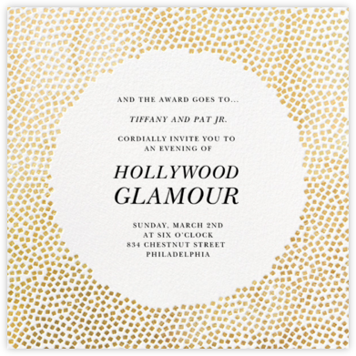 Konfetti - Gold - Kelly Wearstler - Viewing Party Invitations