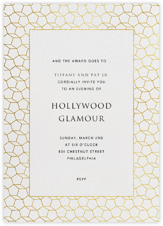 Fullerene - Gold - Paperless Post - Viewing Party Invitations