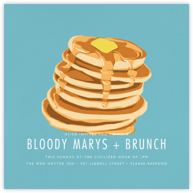Pancakes - Hannah Berman - Brunch invitations