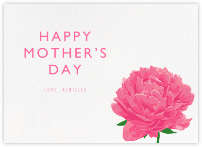 Peony - Hannah Berman - Mother's day cards