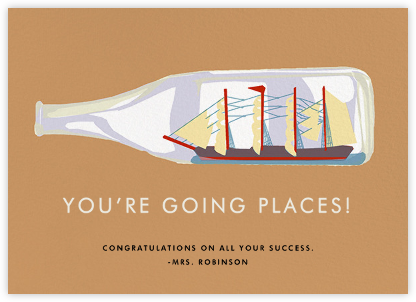 Impossible Bottle - Hannah Berman - Congratulations cards