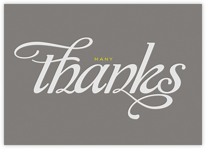 Many Thanks - Grey - bluepoolroad - Greeting cards