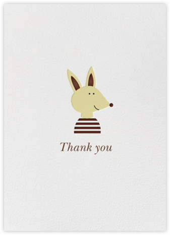 Thank You Pup (Blanca Gomez) - Red Cap Cards - Online Greeting Cards