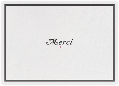 Merci Merci - Black - bluepoolroad - bluepoolroad invitations and cards